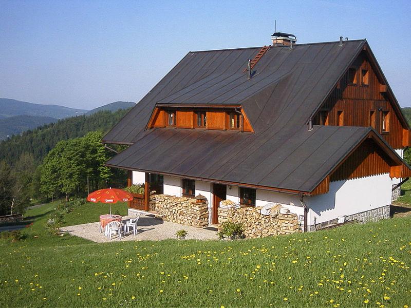 Alpine hut At a Little Cross