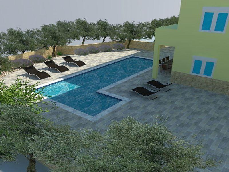 Apartment Vis mit Pool
