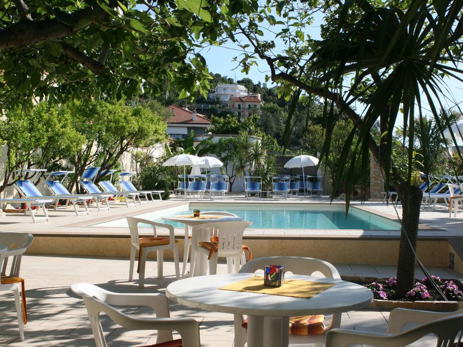 The beautiful hotel pool