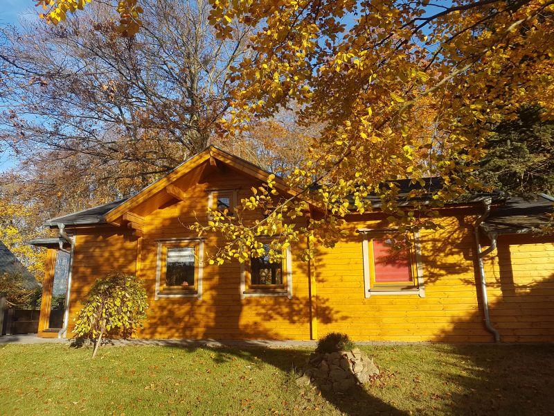 Ferienhaus Blockbohlenhaus mit Sauna und Gartenschlafhaus