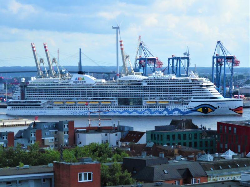 Ferienwohnung Hafen-, Elbe- und Reeperbahnblick, Luxus Designsuite