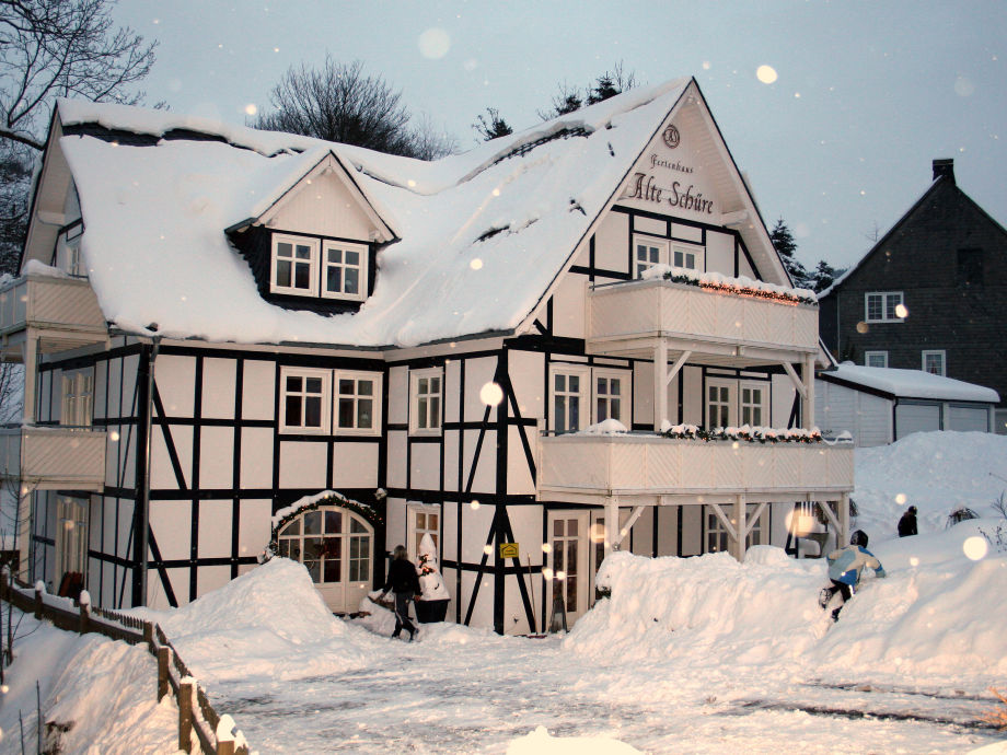 "The ""Alte Schüre"" in winter"