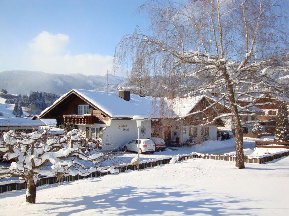 Gästehaus Schmid im Winter