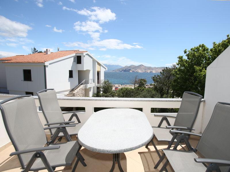 Ferienwohnung Katarina 1 mit Balkon und Meerblick
