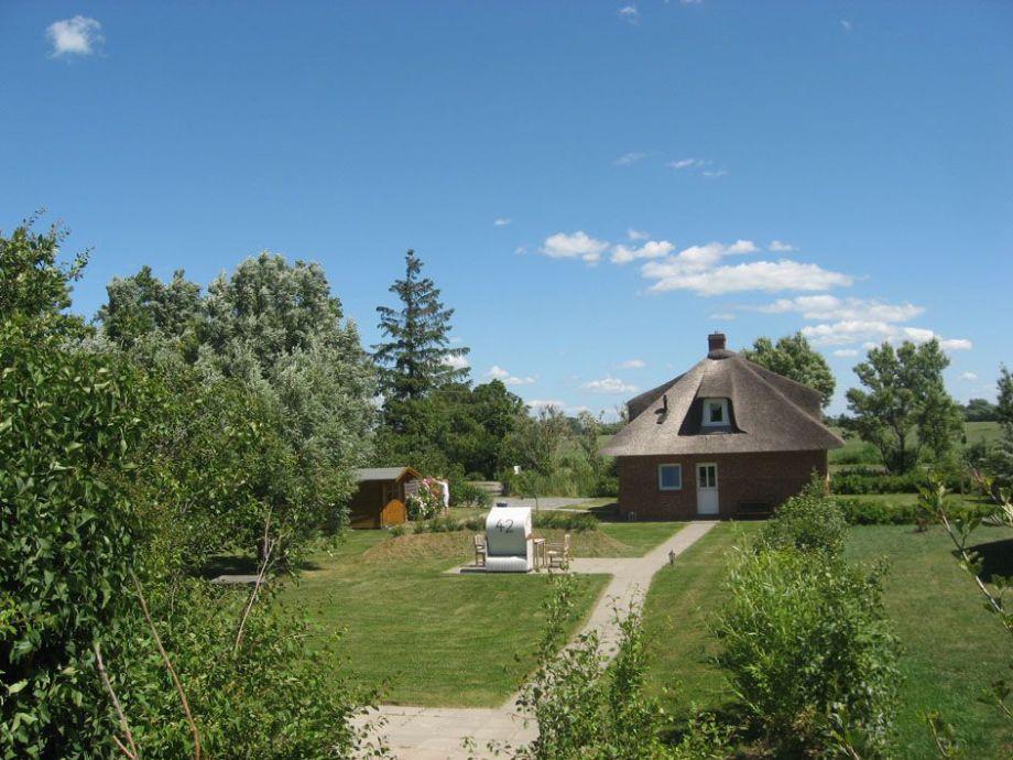 Der Blick vom Deich auf Ihr Ferienhaus Deichsonne.de