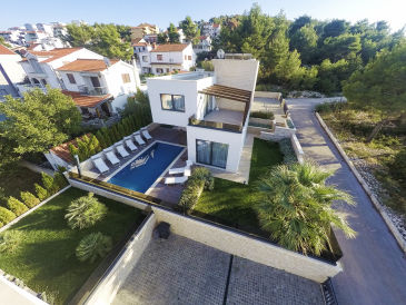 Modern Villa Sunce, in Dalmatia, with a Pool