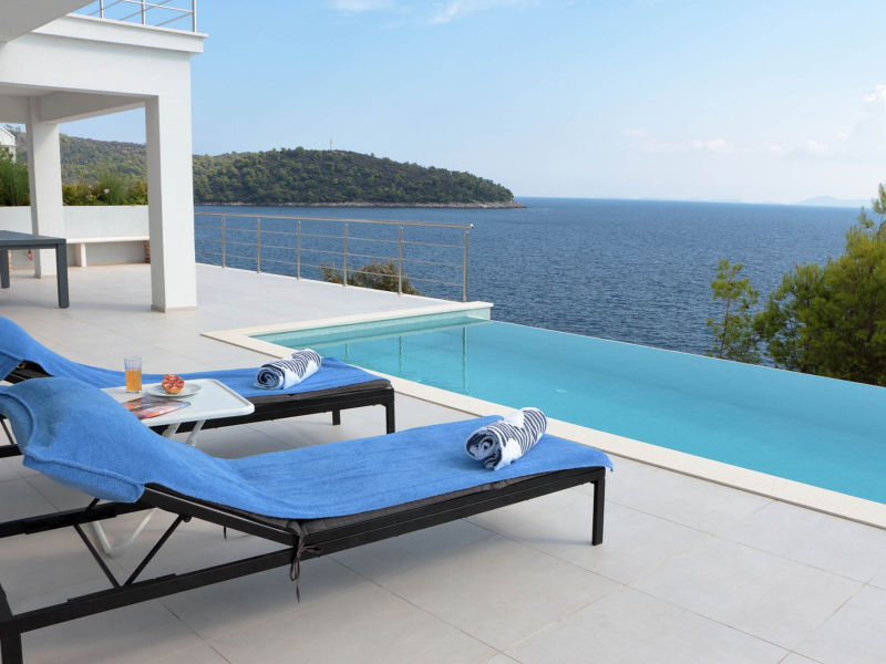 Moderne Villa Carpe Korcula, neben dem Meer