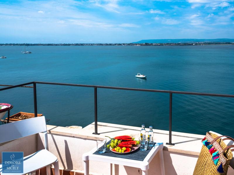 Apartment Alfeo Belvue, Romantische Terrasse mit Meerblick