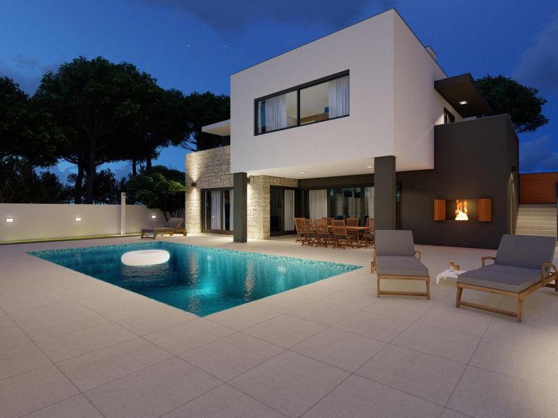 Modern Villa Prima, in Dalmatia, with a Pool