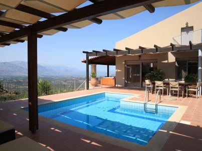 Traum schlafzimmer mit pool  Ferienhaus Villa Castello mit Pool und Weitblick, Rethymnon, Kreta ...