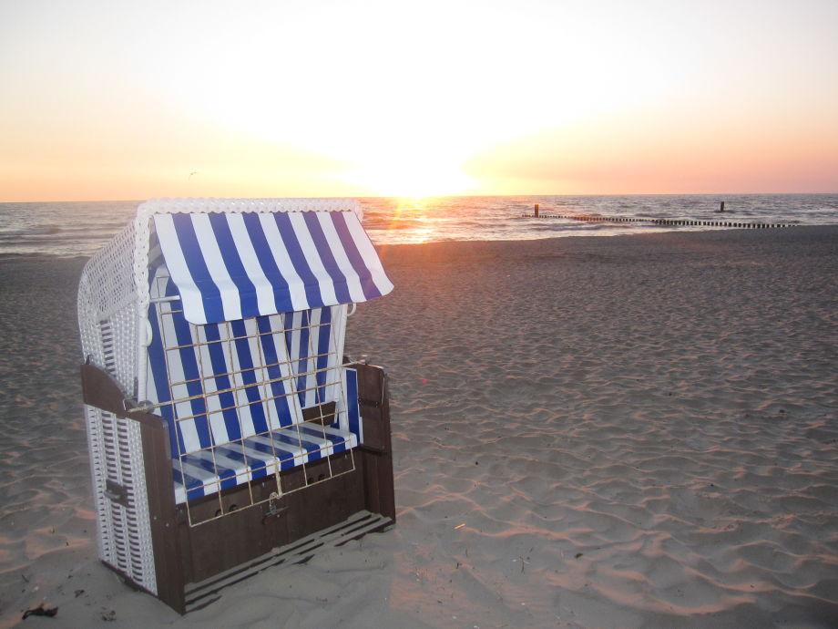 Strandkorb sonnenaufgang  Ferienhaus