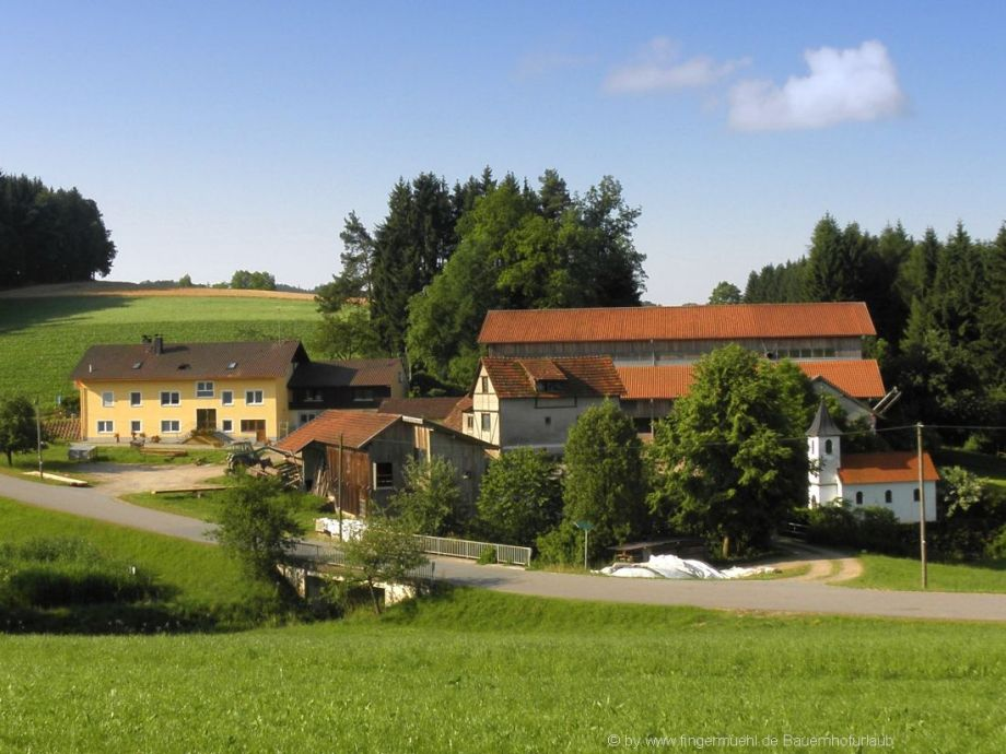 Ansicht vom Familien Bauernhof im Bayerischen Wald