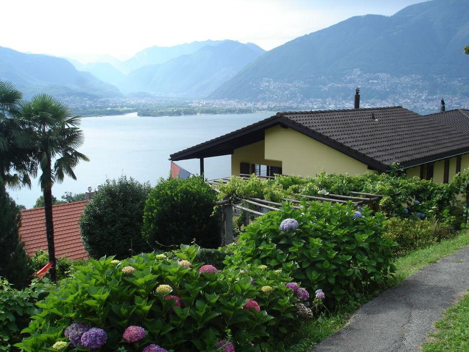 Ausblick auf Locarno und das Maggia-Delta