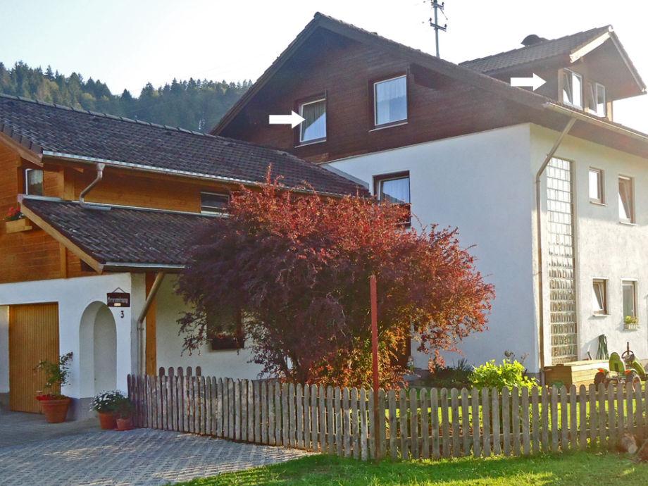 Das Wohnhaus mit Ferienwohnung im Dachgeschoss