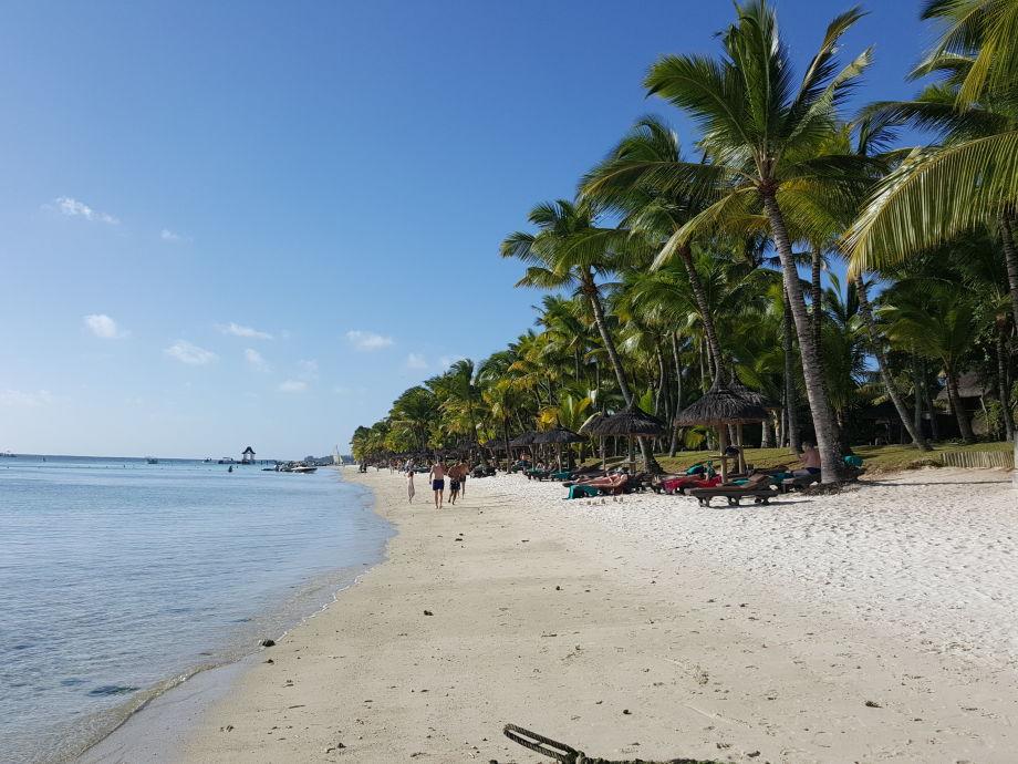 Trou aux biches beach 200m from The Impala Mauritius.
