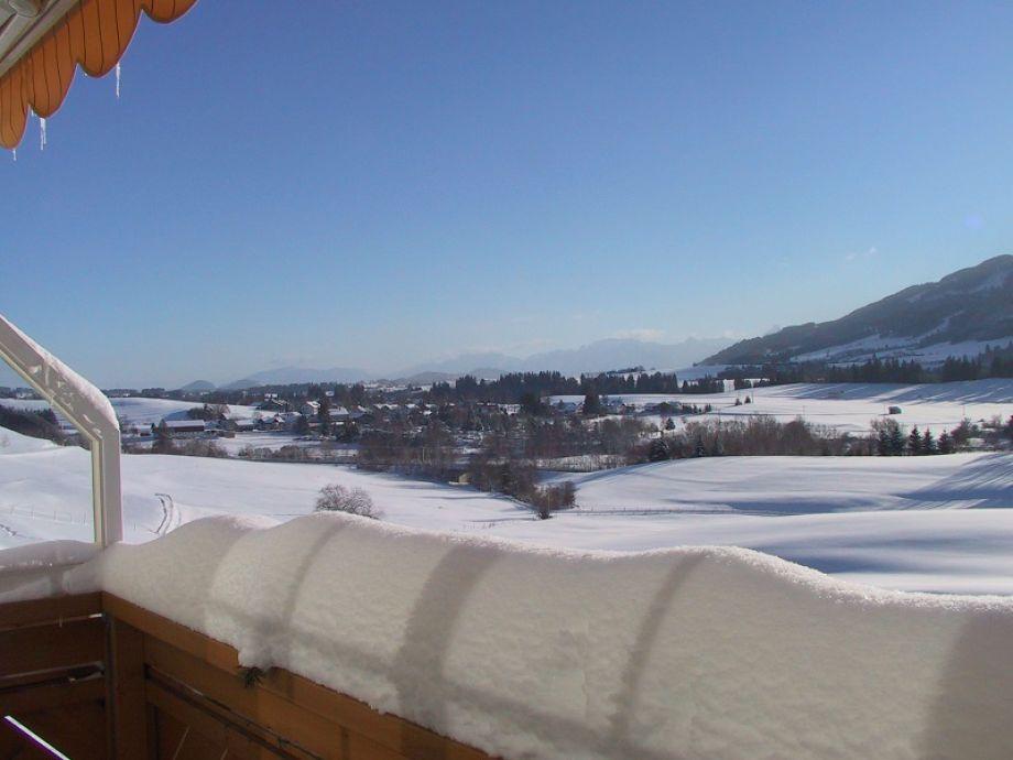 Blick vom Balkon Richtung Nesselwang