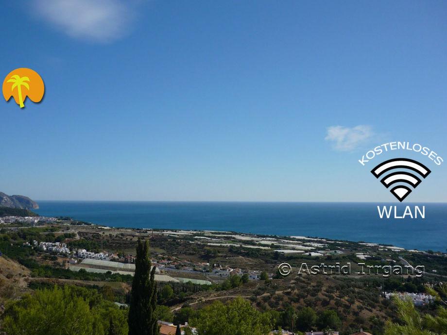Blick Terrasse: Links vom Naturschutzgebiet Cerro Gordo