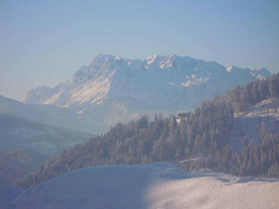 Blick zum Hochköniggebirge- vorm Haus