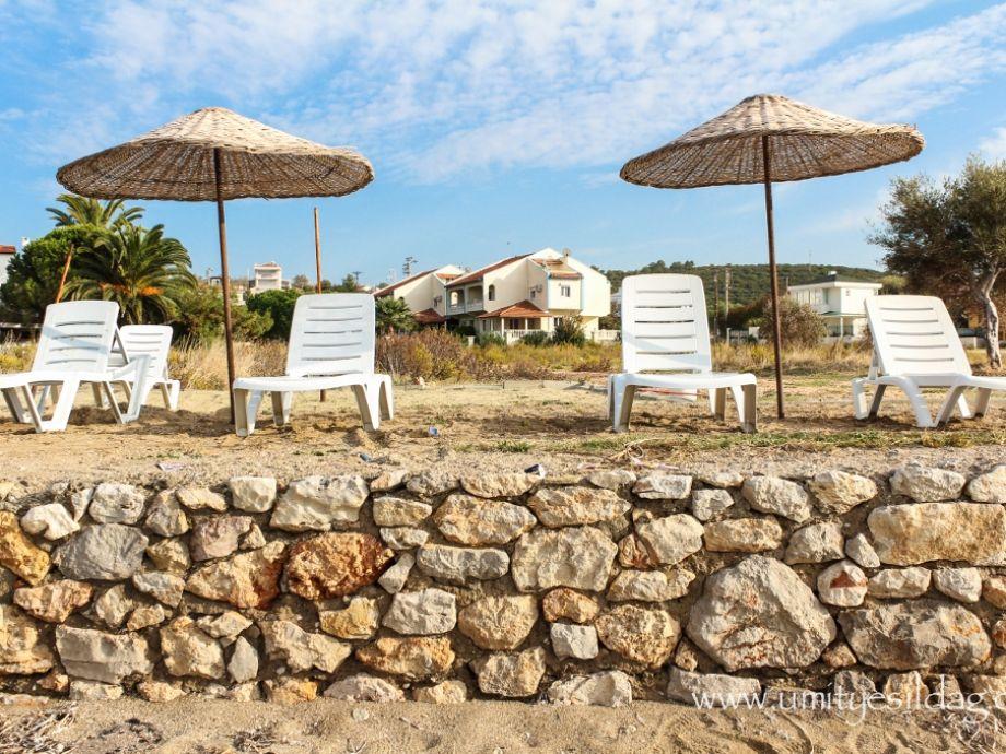 the beach of the villa