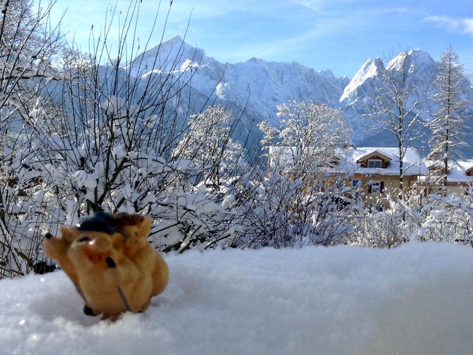 Winterpanorama von der Terrasse!