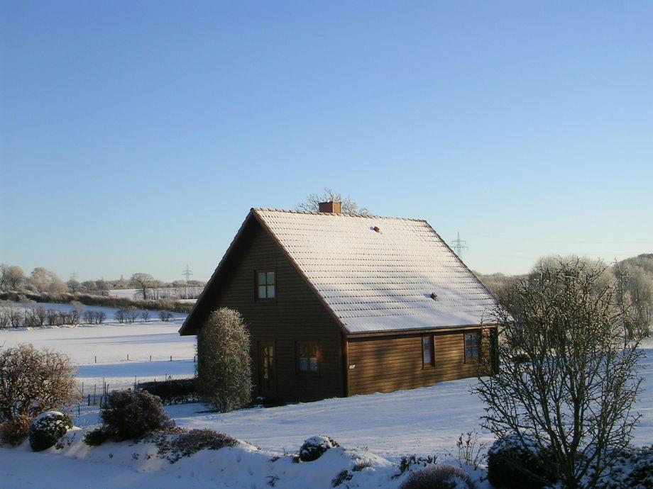 Blockhaus/Ferienhaus im Winter