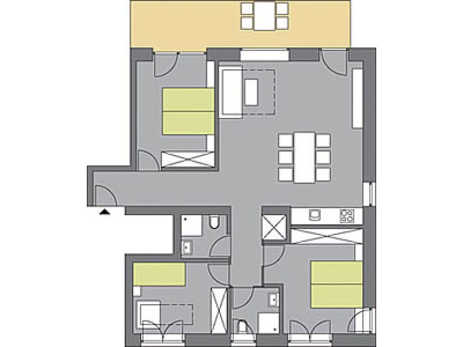 kochschule grundriss. Black Bedroom Furniture Sets. Home Design Ideas