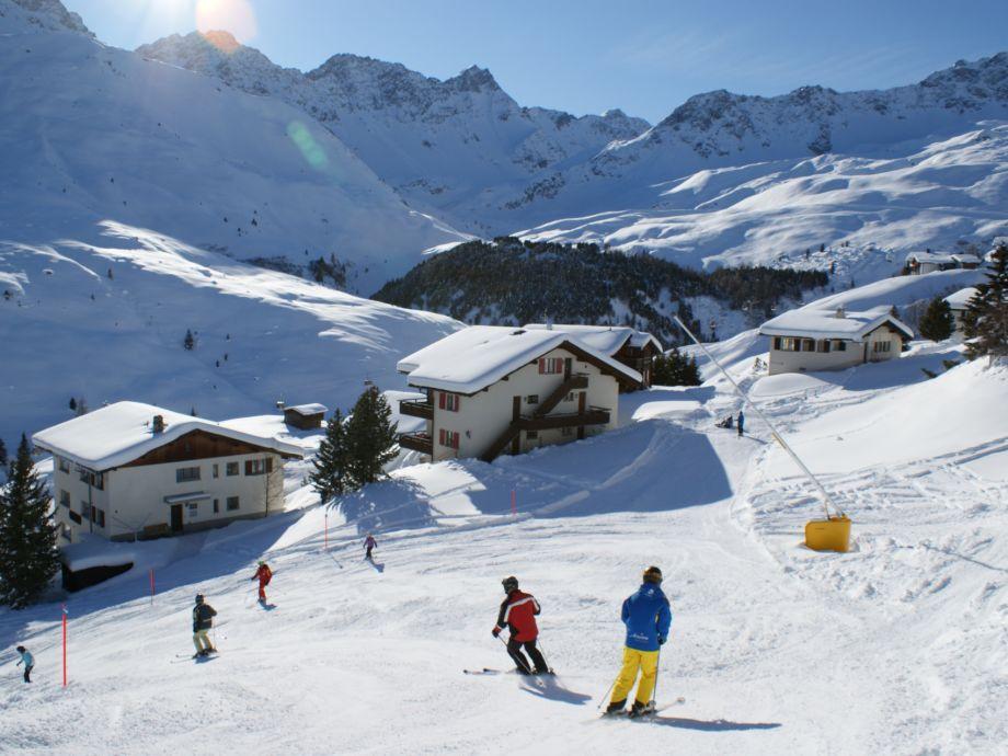 Skiabfahrt bis vor die Haustüre
