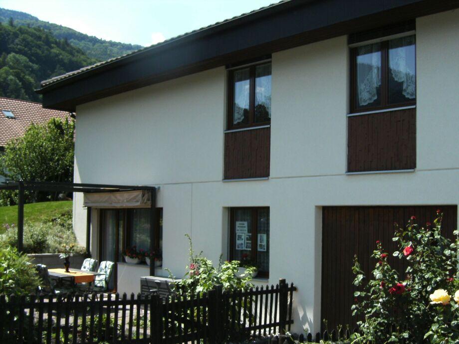 Aussenansicht der Ferienwohnung Vesti in Bad Ragaz