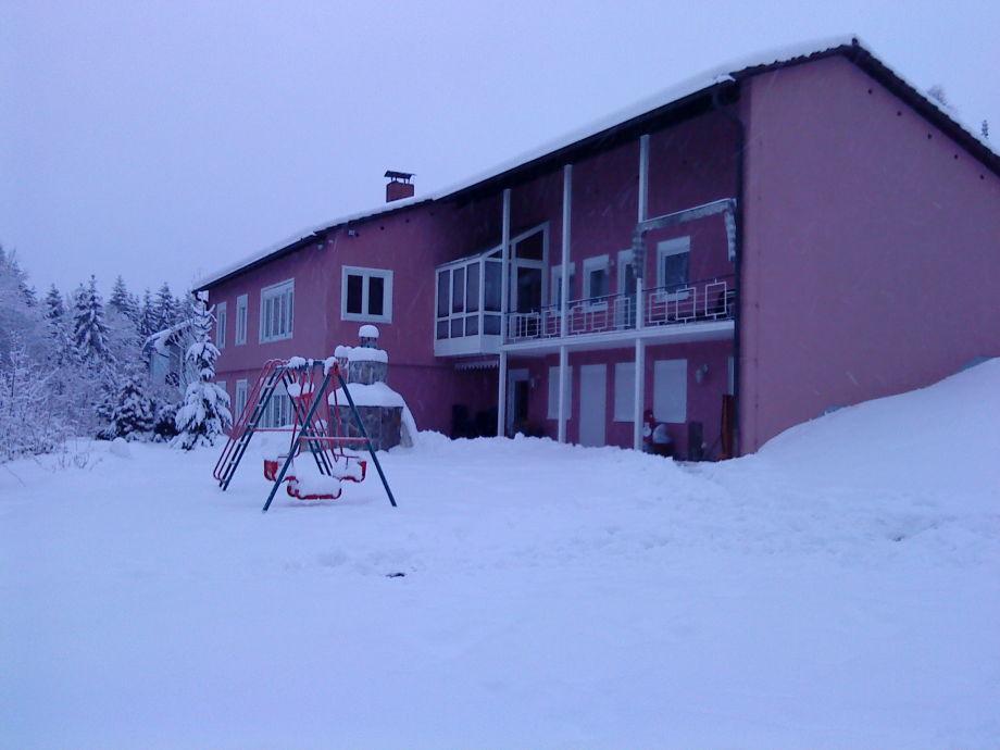 Winteransicht Villa Grafenau