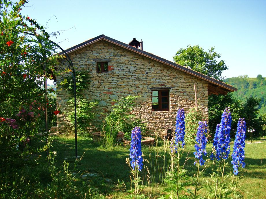 Vacation house in early summer