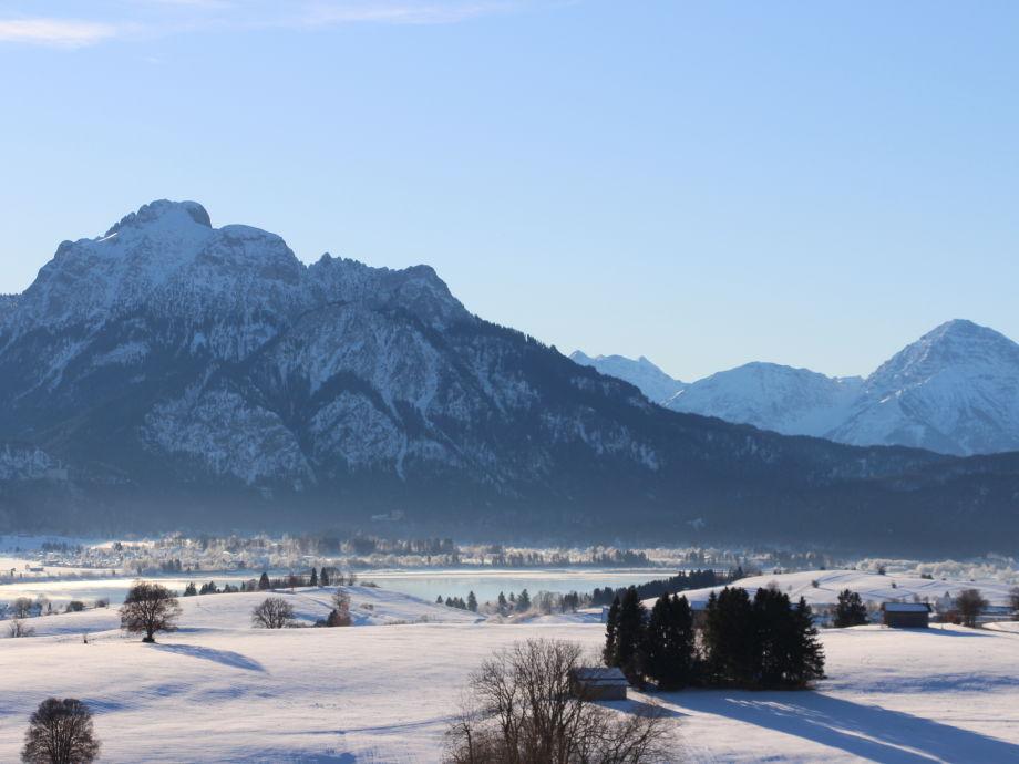 fantastisches Winterpanorama von Ihrem Südbalkon