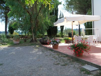 Podere Castagno on the farmhouse