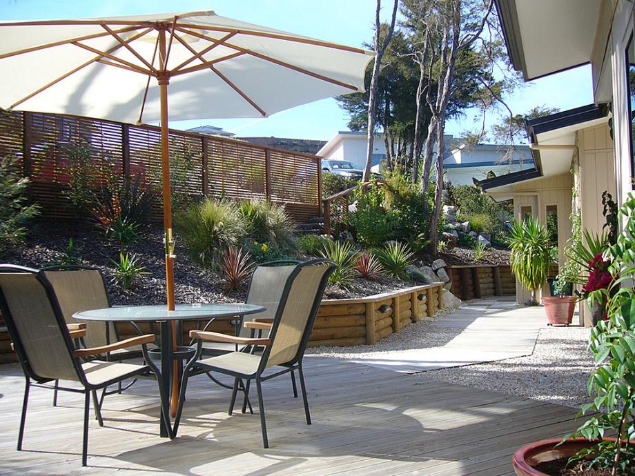 Die Terrasse - herrlich zum Sonnen!
