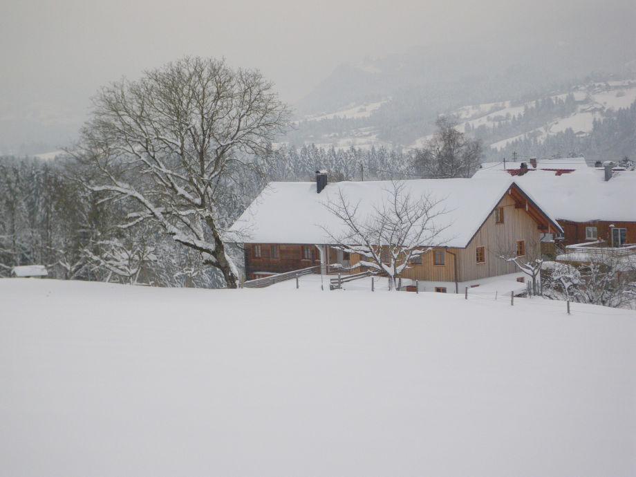 Die Landschaft lädt zum Schneeschuhwandern ein.