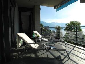 Moderne Ferienwohnung 180° Seeblick Lago Maggiore