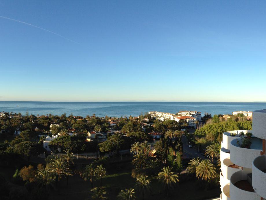 Blick vom Balkon bis Gibraltar und Nordafrika