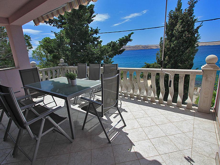 Terrasse mit herrlichem Meerblick