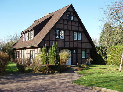 halftimbered house Laureen's cottage