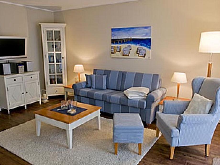 Ausstattung in der Ferienhausanlage Upstalsboom - Urlaubsräume am Meer