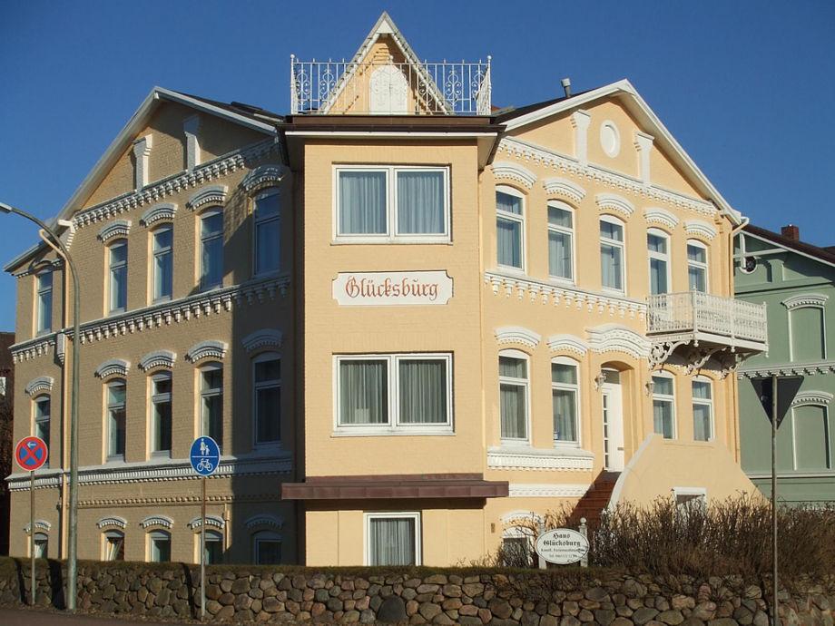 Die Außenansicht Ferienhaus Glücksburg