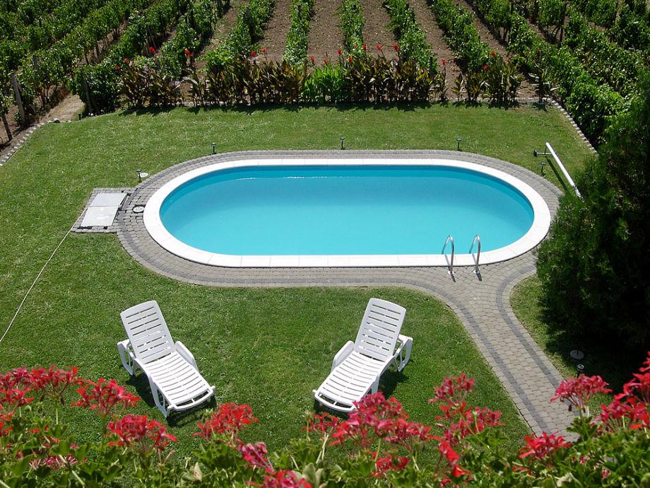 Ferienhaus einzelst ck velence see familie gabor und for Ovaler pool garten