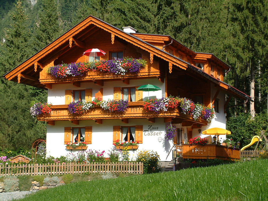 Our typical tyrolean house in summer