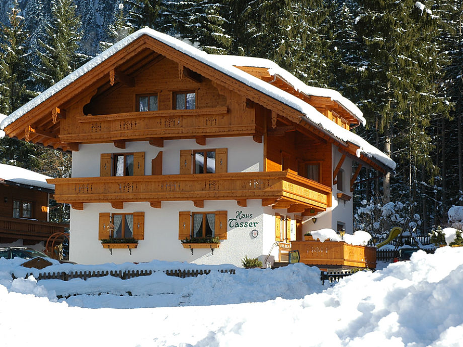 Our typical tyrolean house in winter