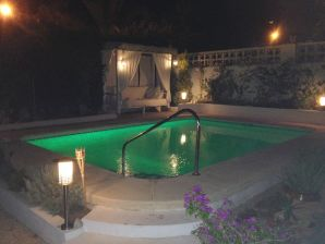 Villa with lightened swimming pool and large garden