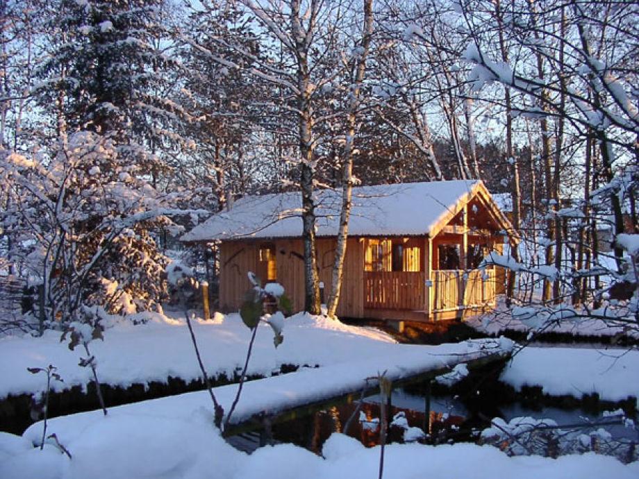 Winter bei der Blockhütte