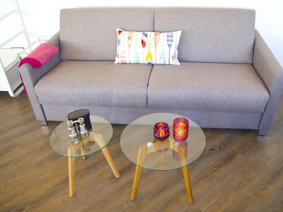 Ferienwohnung exklusives turm apartment ostsee fehmarn for Schlafsofa zwei personen