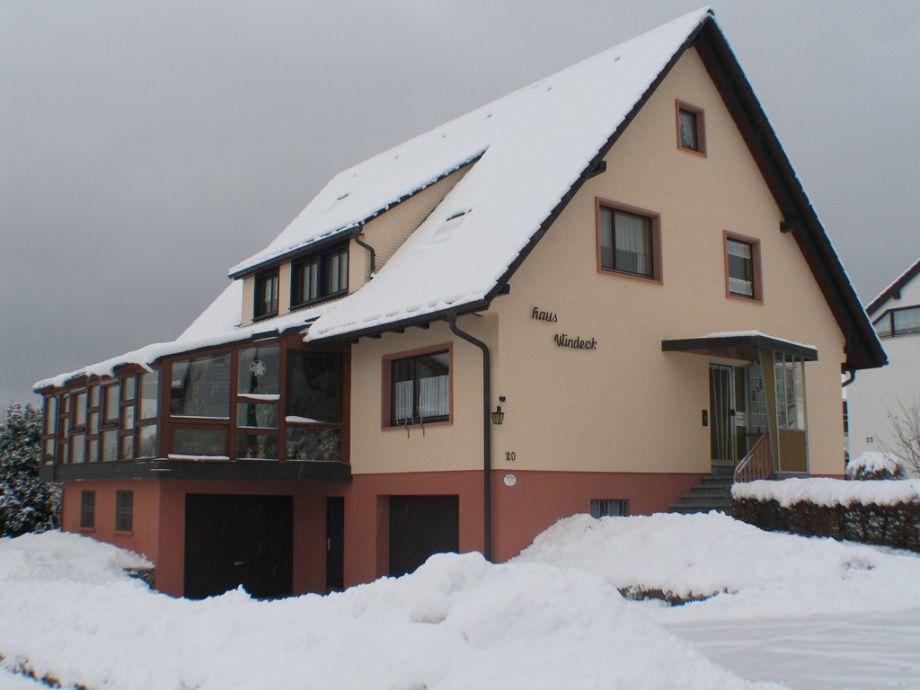 Haus-Windeck im Winter