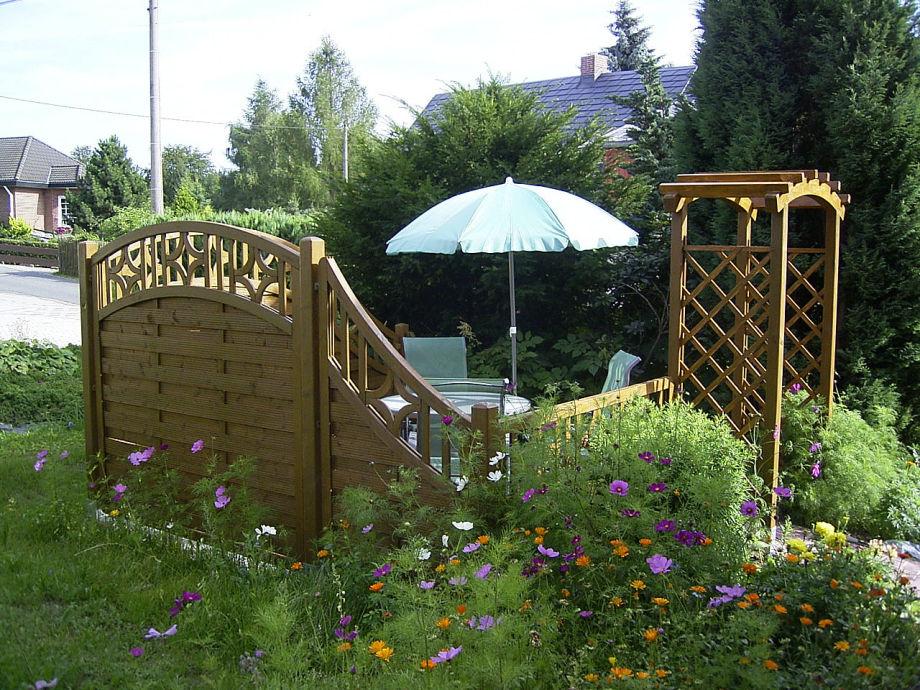 Ferienwohnung kapp vogtland frau maria kapp - Garten sitzecke ...