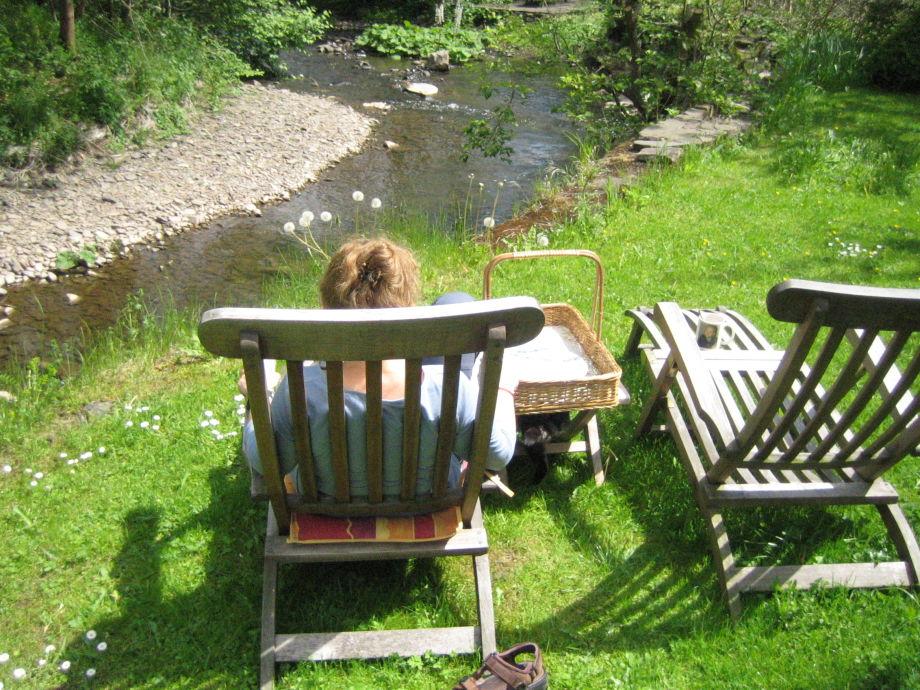 Garten am Bach, faulenzen erlaubt!