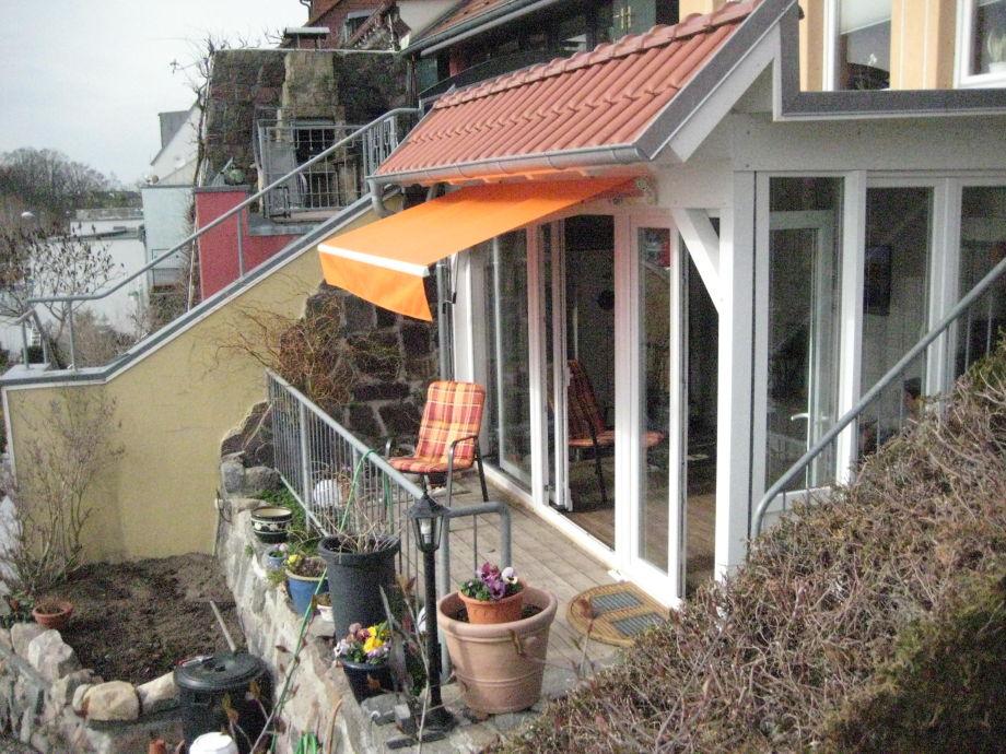 """Terrasse """"über"""" der Müritz mit 1-Raum FEWO"""
